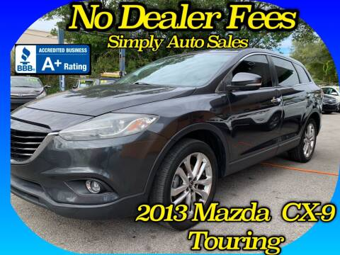 2013 Mazda CX-9 for sale at Simply Auto Sales in Palm Beach Gardens FL