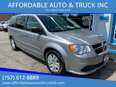 2016 Dodge Grand Caravan for sale at AFFORDABLE AUTO & TRUCK INC in Virginia Beach VA