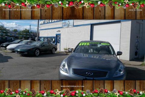 2010 Infiniti G37 Sedan for sale at Highway 100 & Loomis Road Sales in Franklin WI