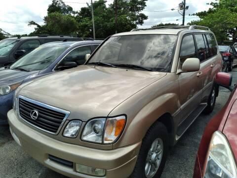2002 Lexus LX 470 for sale at P S AUTO ENTERPRISES INC in Miramar FL