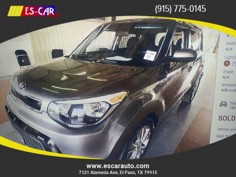 2016 Kia Soul for sale at Escar Auto in El Paso TX