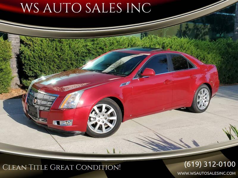 2009 Cadillac CTS for sale at WS AUTO SALES INC in El Cajon CA