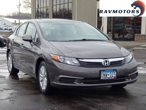 2012 Honda Civic for sale at RAVMOTORS 2 in Crystal MN