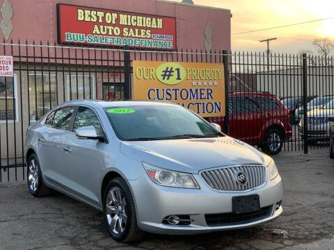 2012 Buick LaCrosse for sale at Best of Michigan Auto Sales in Detroit MI