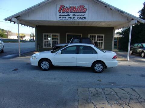 2002 Honda Accord for sale at Foothills Used Cars LLC in Campobello SC