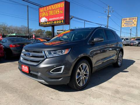 2015 Ford Edge for sale at Alejandro Cars & Trucks in Houston TX