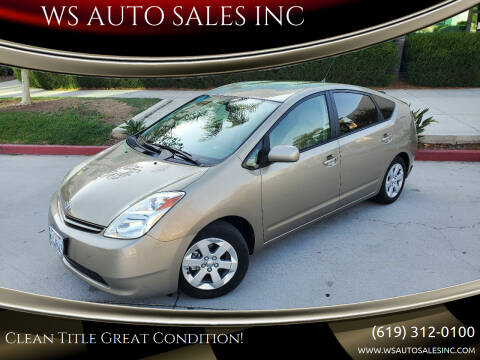 2004 Toyota Prius for sale at WS AUTO SALES INC in El Cajon CA