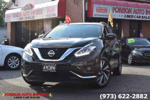 2018 Nissan Murano for sale at www.onlycarsnj.net in Irvington NJ