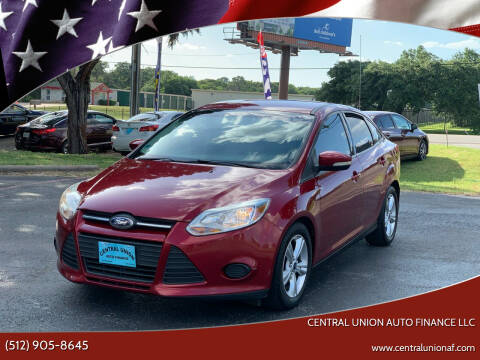 2014 Ford Focus for sale at Central Union Auto Finance LLC in Austin TX