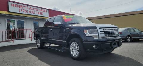 2013 Ford F-150 for sale at Henry's Autosales, LLC in Reno NV