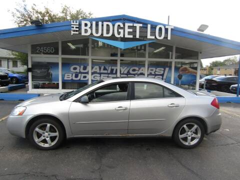 2007 Pontiac G6 for sale at THE BUDGET LOT in Detroit MI