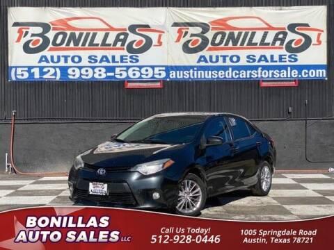 2014 Toyota Corolla for sale at Bonillas Auto Sales in Austin TX