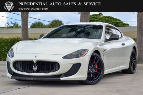 2012 Maserati GranTurismo for sale at Presidential Auto  Sales & Service in Delray Beach FL