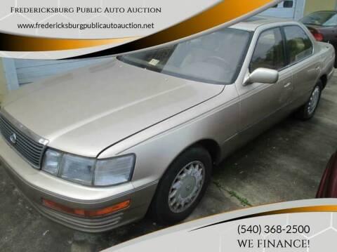 1992 Lexus LS 400 for sale at FPAA in Fredericksburg VA