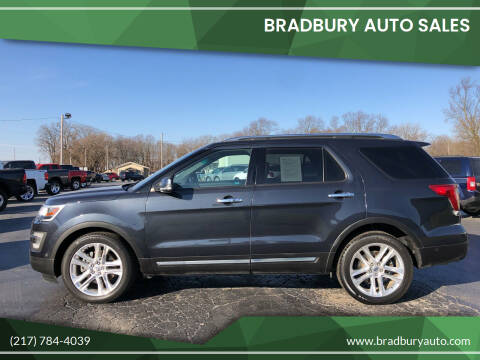 2017 Ford Explorer for sale at BRADBURY AUTO SALES in Gibson City IL