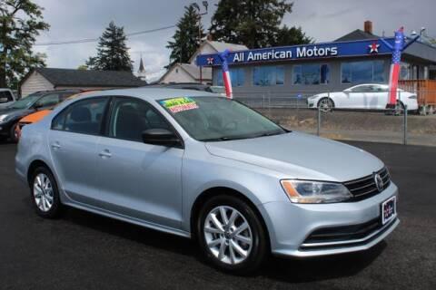 2015 Volkswagen Jetta for sale at All American Motors in Tacoma WA