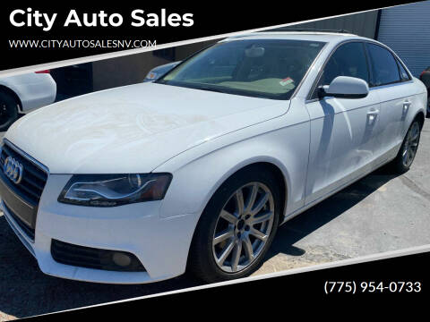 2010 Audi A4 for sale at City Auto Sales in Sparks NV