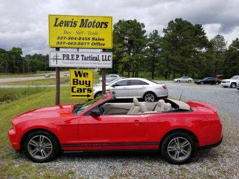2010 Ford Mustang for sale at Lewis Motors LLC in Deridder LA
