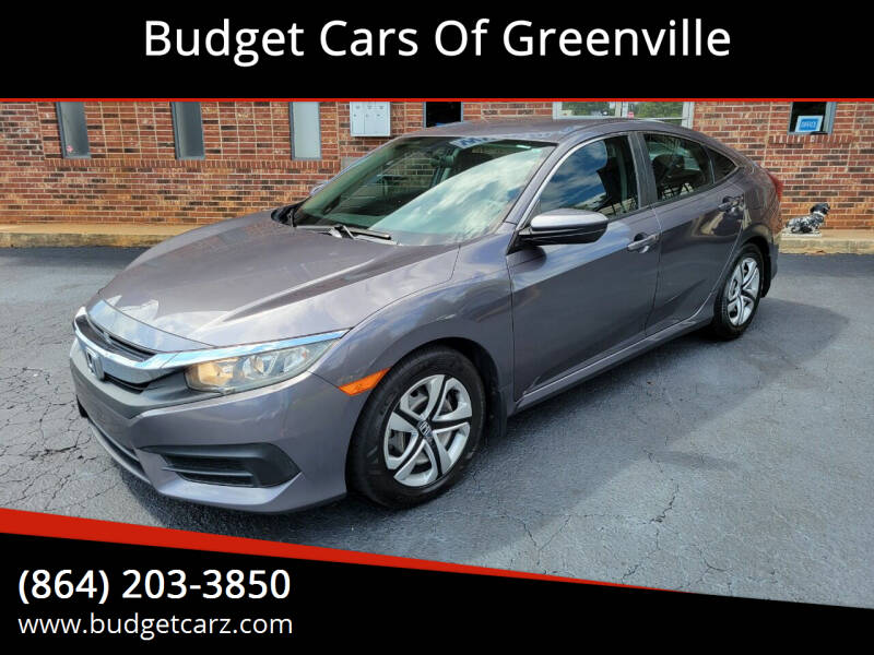 2016 Honda Civic for sale at Budget Cars Of Greenville in Greenville SC