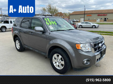 2012 Ford Escape for sale at A+ Auto in Indianola IA