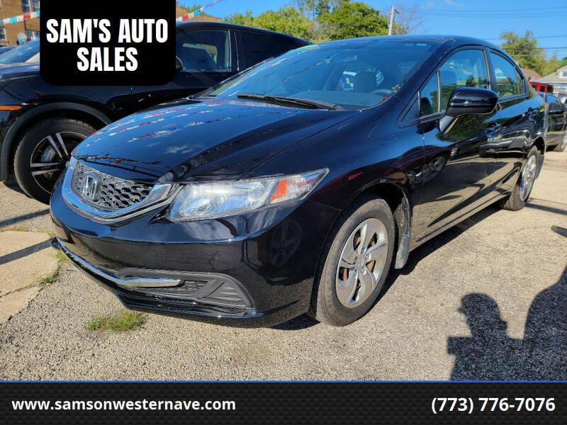 2015 Honda Civic for sale at SAM'S AUTO SALES in Chicago IL