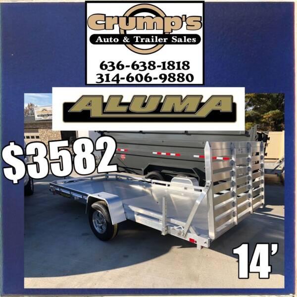 2021 Aluma 14' Utility Trailer for sale at CRUMP'S AUTO & TRAILER SALES in Crystal City MO