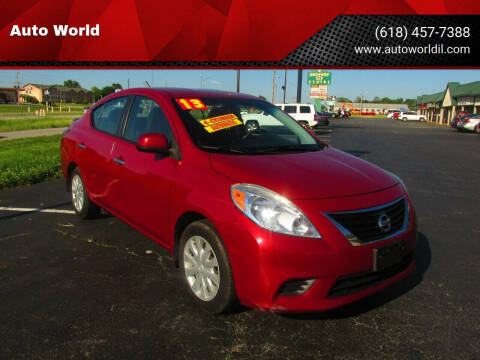 2013 Nissan Versa for sale at Auto World in Carbondale IL