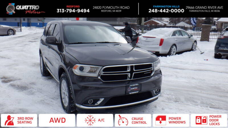 2014 Dodge Durango for sale at Quattro Motors 2 in Farmington Hills MI