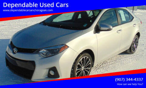 2016 Toyota Corolla for sale at Dependable Used Cars in Anchorage AK