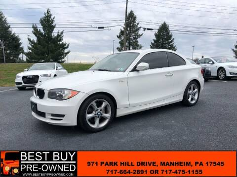 2011 BMW 1 Series for sale at Best Buy Pre-Owned in Manheim PA