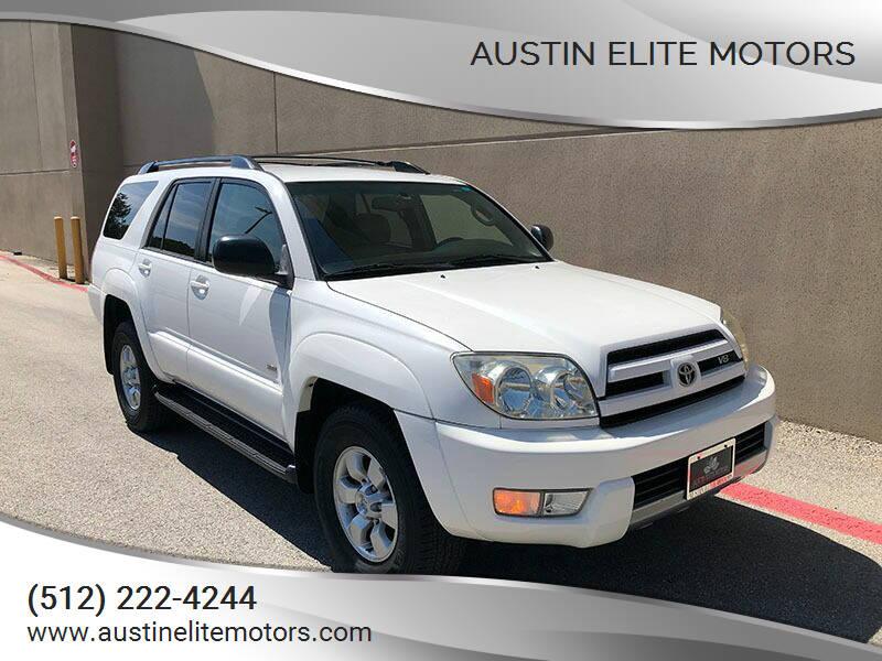 2003 Toyota 4Runner for sale at Austin Elite Motors in Austin TX