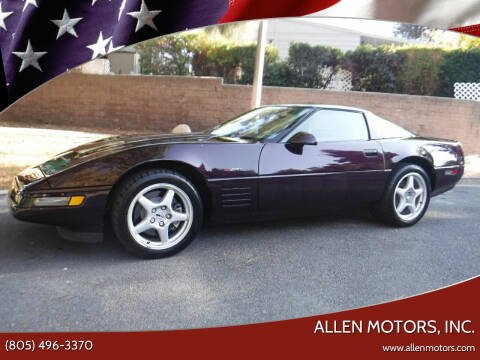 1994 Chevrolet Corvette for sale at Allen Motors, Inc. in Thousand Oaks CA