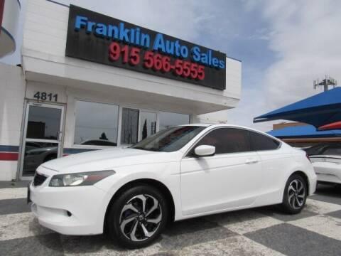 2010 Honda Accord for sale at Franklin Auto Sales in El Paso TX