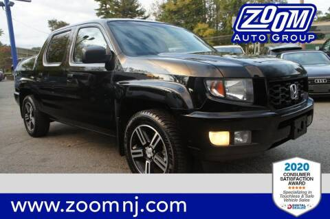 2012 Honda Ridgeline for sale at Zoom Auto Group in Parsippany NJ