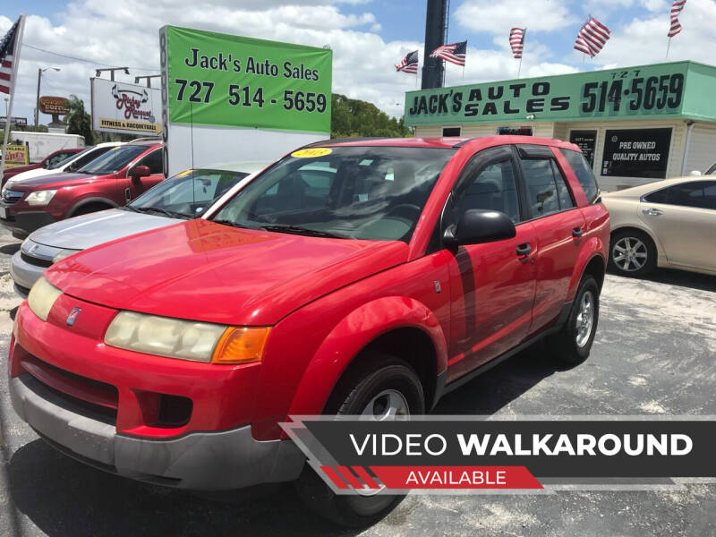 2003 Saturn Vue for sale at Jack's Auto Sales in Port Richey FL