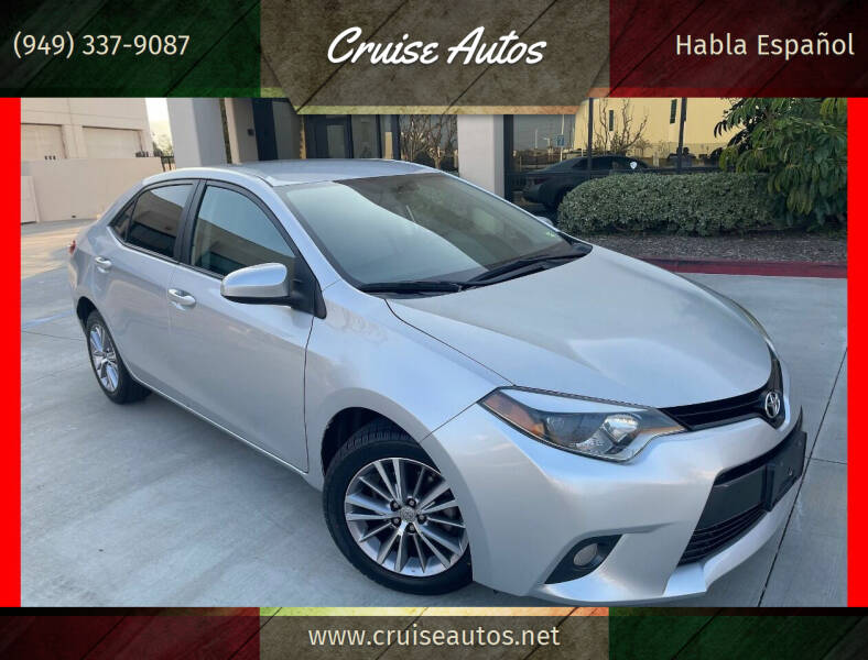 2015 Toyota Corolla for sale at Cruise Autos in Corona CA