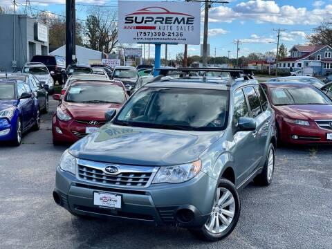 2012 Subaru Forester for sale at Supreme Auto Sales in Chesapeake VA