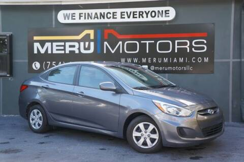 2017 Hyundai Accent for sale at Meru Motors in Hollywood FL