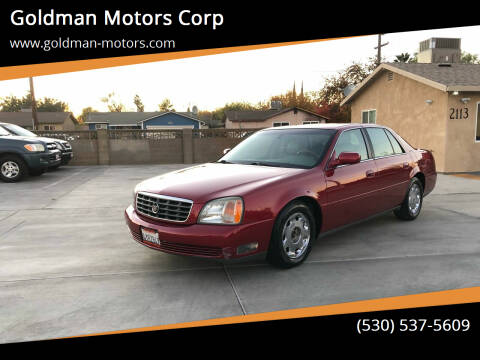 2002 Cadillac DeVille for sale at Goldman Motors Corp in Stockton CA