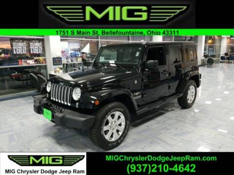2016 Jeep Wrangler Unlimited for sale at MIG Chrysler Dodge Jeep Ram in Bellefontaine OH
