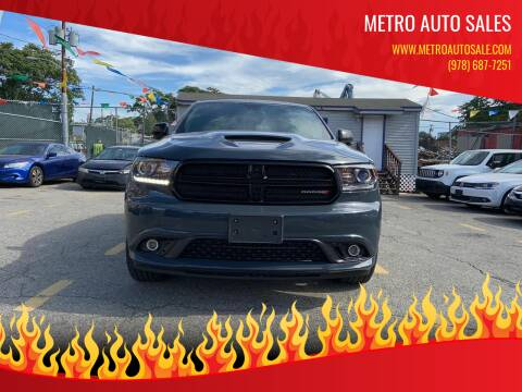 2018 Dodge Durango for sale at Metro Auto Sales in Lawrence MA