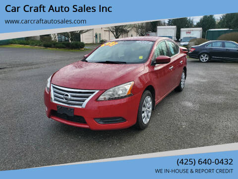 2014 Nissan Sentra for sale at Car Craft Auto Sales Inc in Lynnwood WA