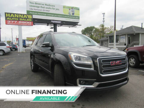 2016 GMC Acadia for sale at Hanna's Auto Sales in Indianapolis IN