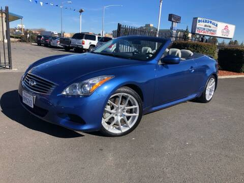 2009 Infiniti G37 Convertible for sale at BOARDWALK MOTOR COMPANY in Fairfield CA