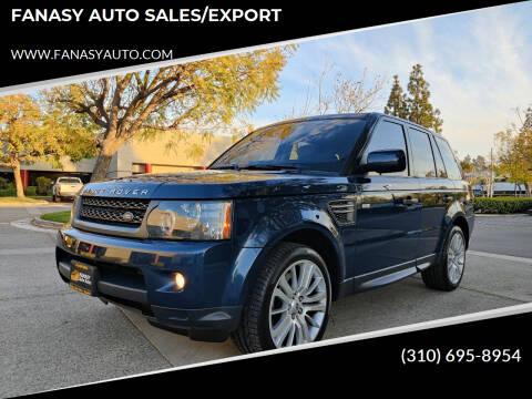 2011 Land Rover Range Rover Sport for sale at FANASY AUTO SALES/EXPORT in Yorba Linda CA