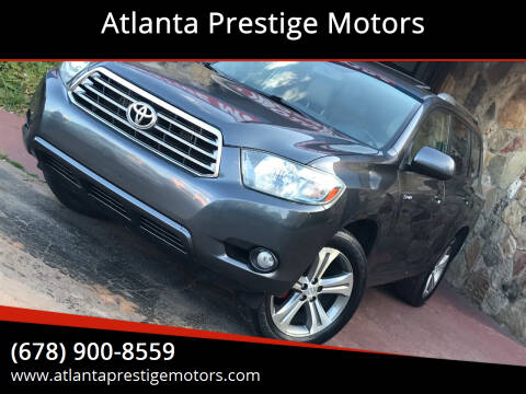 2008 Toyota Highlander for sale at Atlanta Prestige Motors in Decatur GA