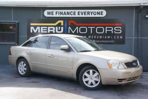 2005 Ford Five Hundred for sale at Meru Motors in Hollywood FL