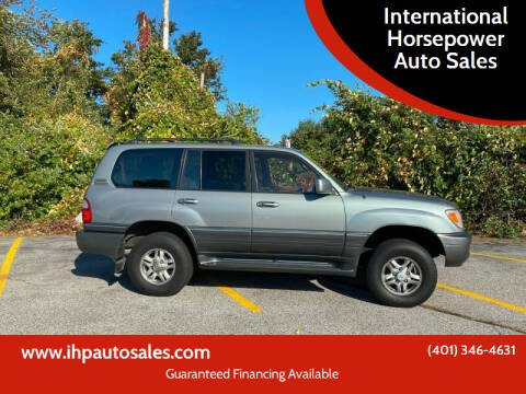 2001 Lexus LX 470 for sale at International Horsepower Auto Sales in Warwick RI