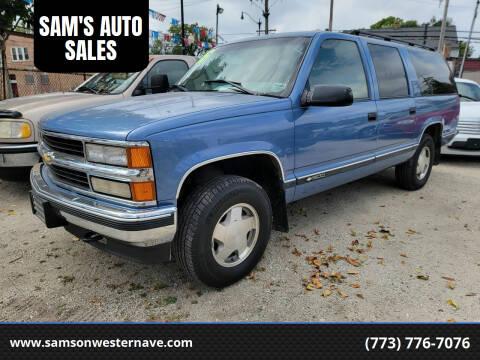1996 Chevrolet Suburban for sale at SAM'S AUTO SALES in Chicago IL