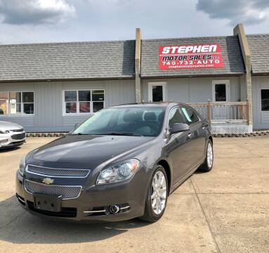 2011 Chevrolet Malibu for sale at Stephen Motor Sales LLC in Caldwell OH
